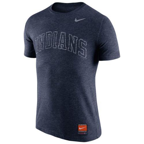 Men's Nike Cleveland Indians Wordmark Tri-Blend Tee
