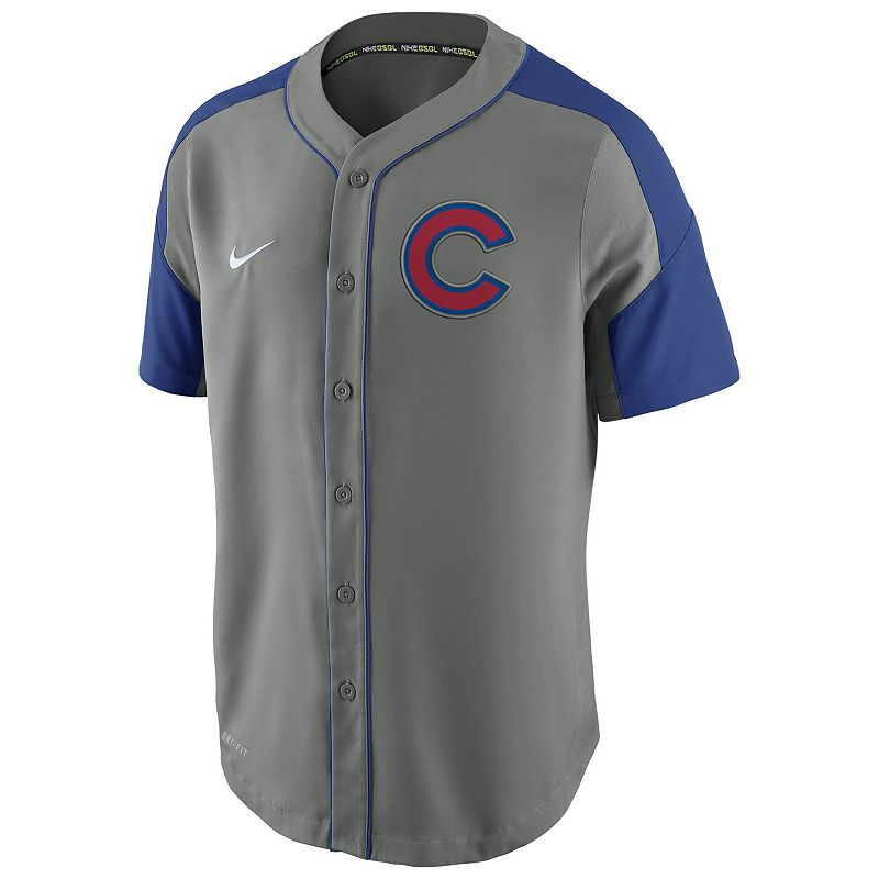 Men's Nike Chicago Cubs Woven Jersey