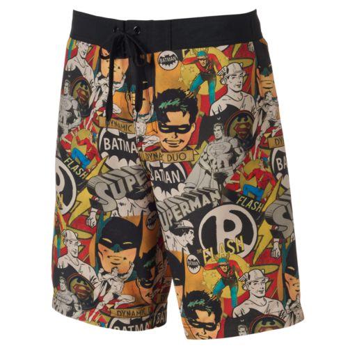 Men's DC Comics Batman Comic Book Board Shorts