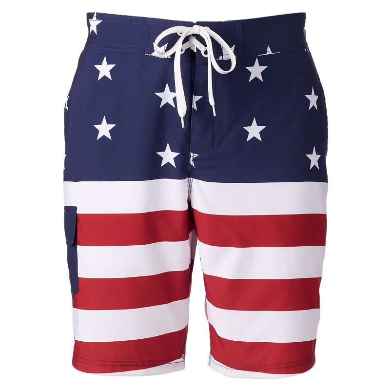 Men's American Flag Board Shorts