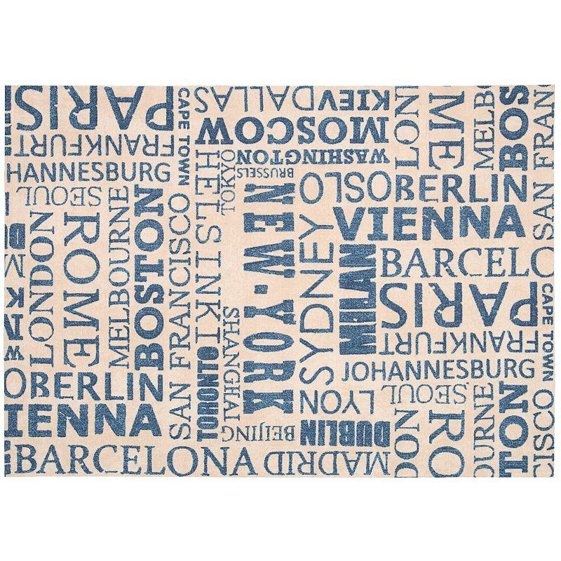 Waverly Sun N' Shade Printed Words Indoor Outdoor Rug