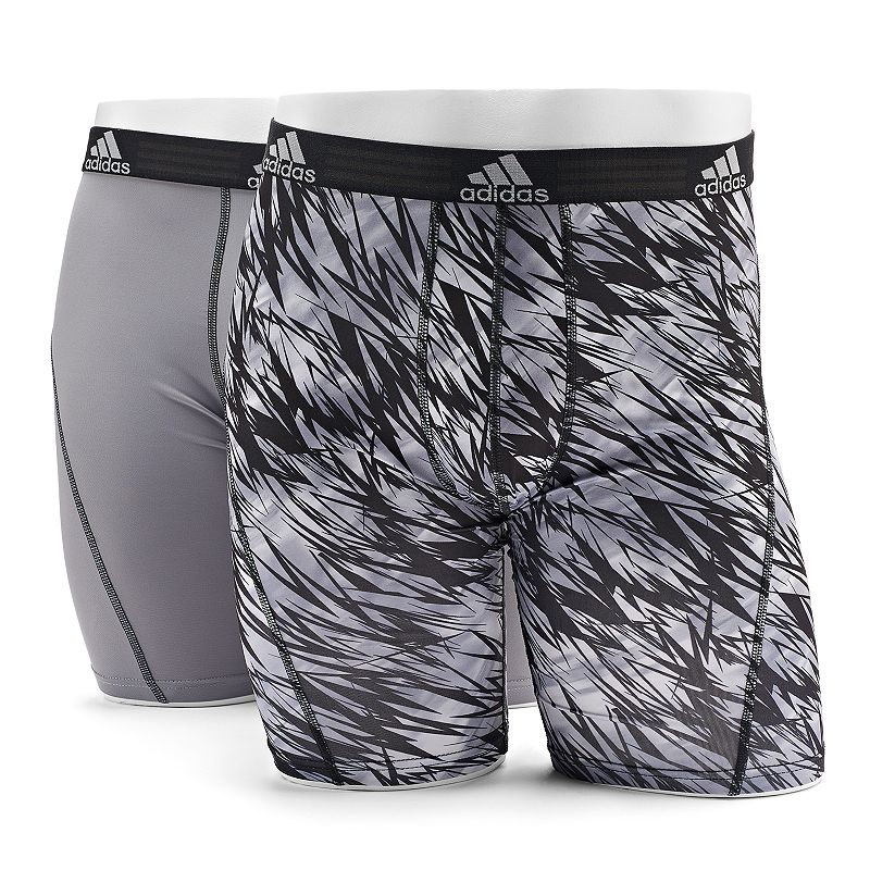 Men's adidas 2-pack Climalite Draven Midway Briefs