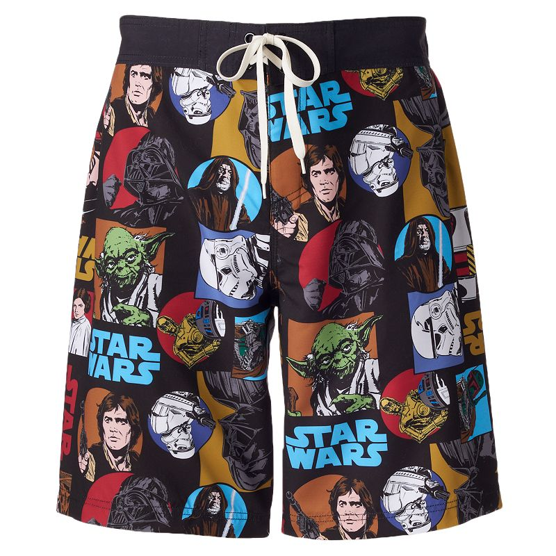 Men's Star Wars Character Collage Board Shorts