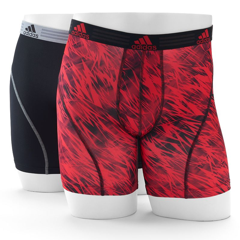 Men's adidas 2-Pack climalite Draven Print Boxer Briefs