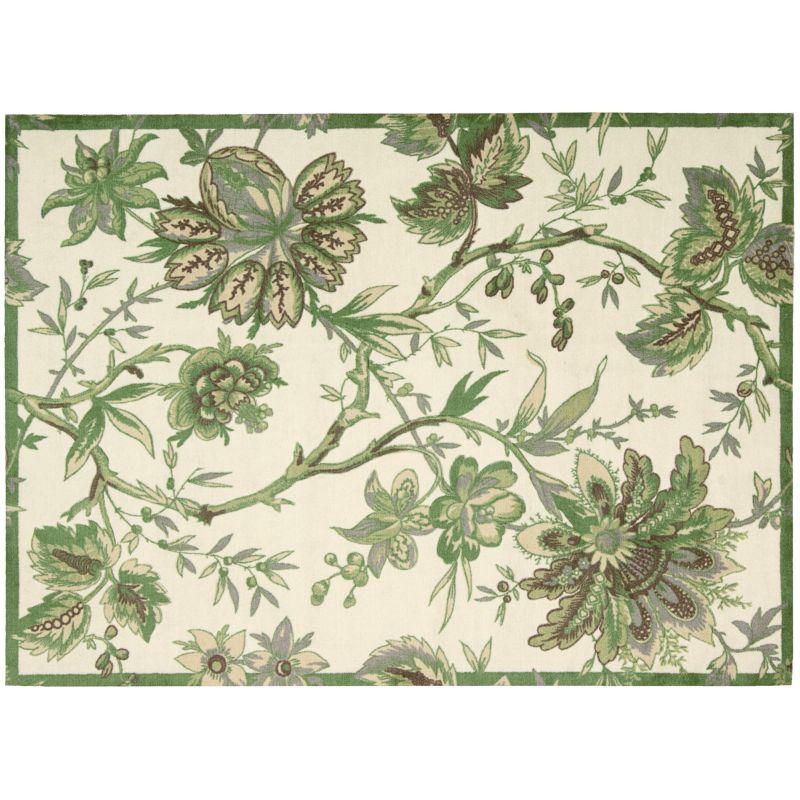 Waverly Artisanal Delight Floral Rug, Green thumbnail