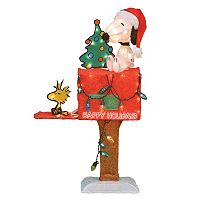 Light-Up Peanuts Snoopy Mailbox Christmas Decor by Candy Cane Lane