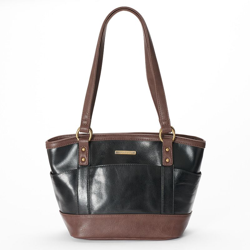 Stone & Co. Megan Curved Leather Tote