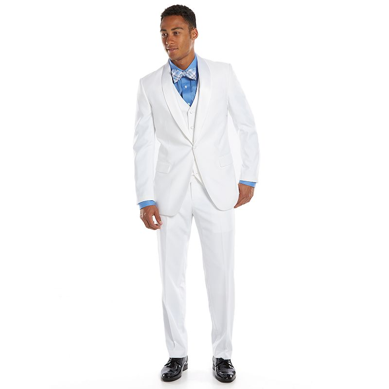 Men's Savile Row Slim-Fit White Tuxedo Jacket