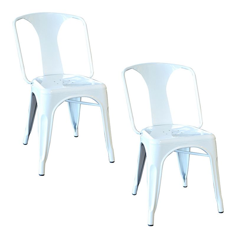 AmeriHome 2-piece Loft Metal Dining Chair Set