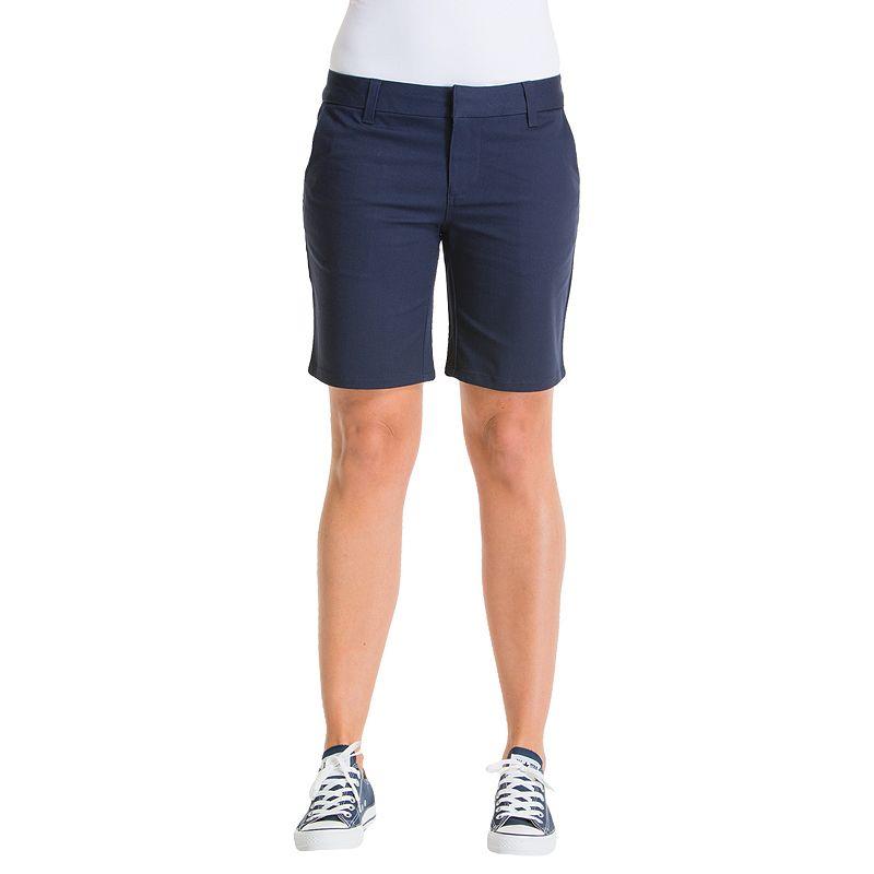 Lee Uniforms Juniors' Basic 8-in. Shorts