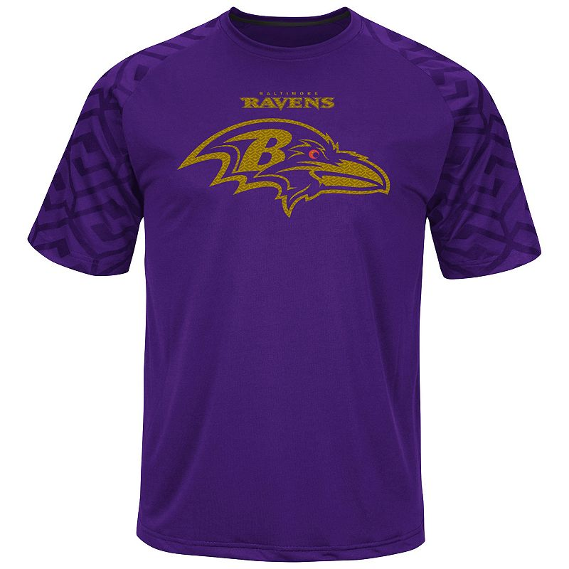 Big & Tall Majestic Baltimore Ravens Scales Synthetic Raglan Tee