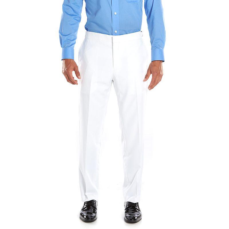 Men's Savile Row Slim-Fit White Tuxedo Pants