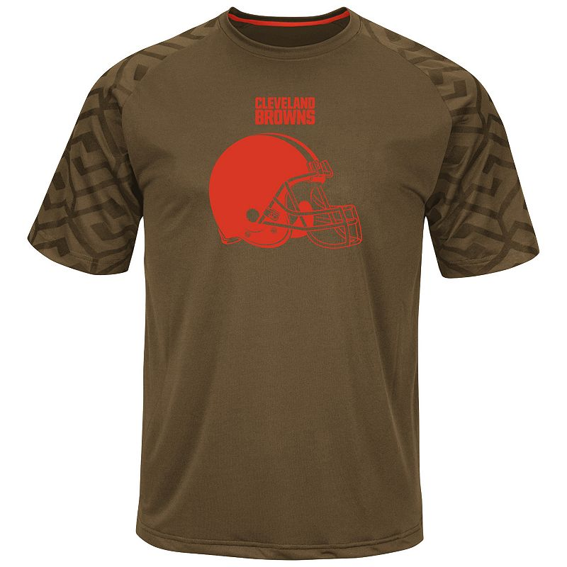 Big & Tall Majestic Cleveland Browns Scales Synthetic Raglan Tee