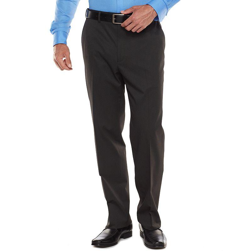 Big & Tall IZOD Classic-Fit Black Suit Pants