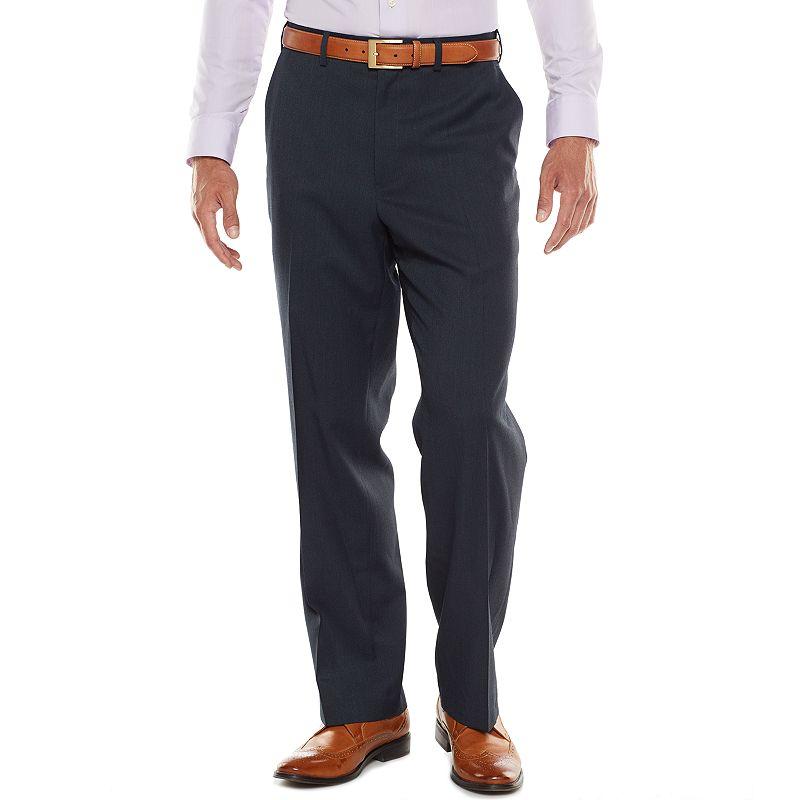 Big & Tall IZOD Classic-Fit Navy Flat-Front Suit Pants