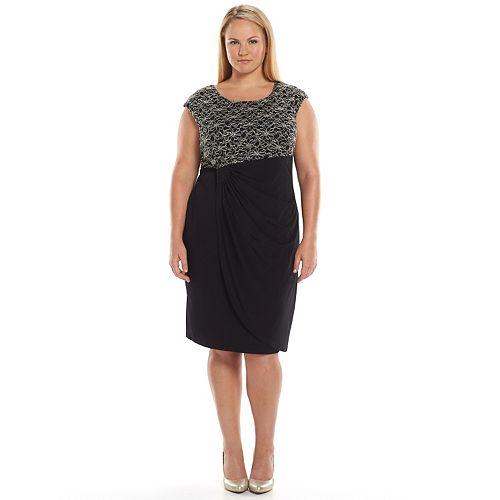 Polyester Faux Wrap Dress Kohl S