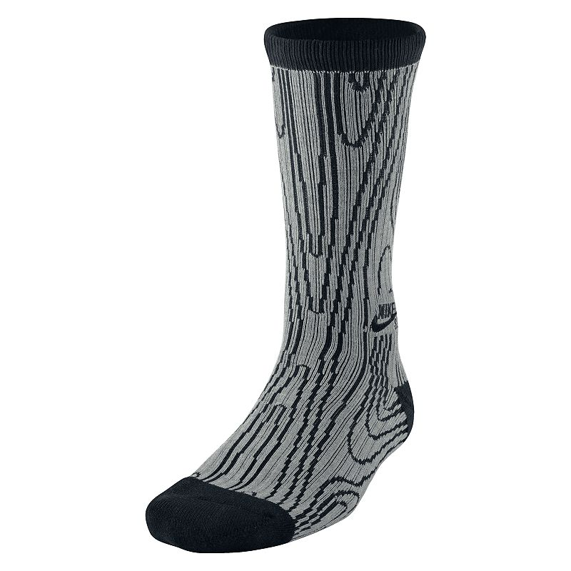 Men's Nike Woodgrain Dri-Fit Performance Crew Socks