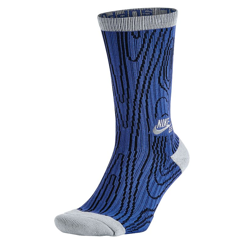 Men's Nike Woodgrain Dri-Fit Performance Crew Socks
