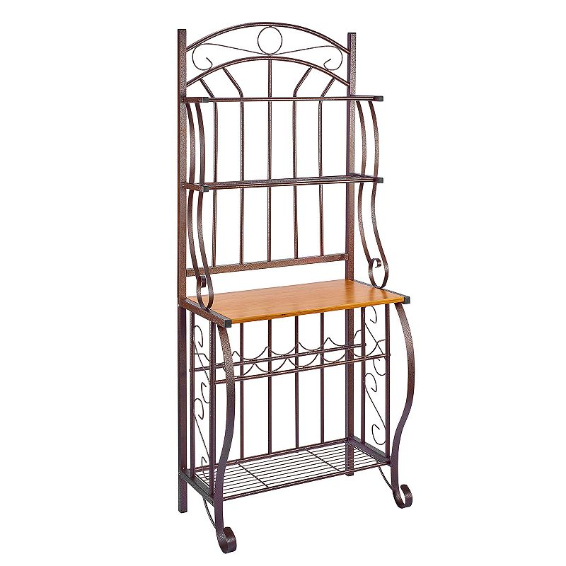 Old Dutch Copper Baker's Rack