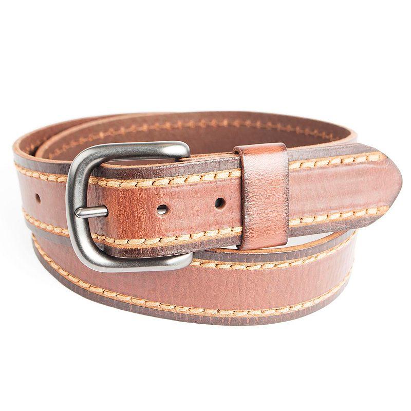 Men's Levi's Heavy-Stitched Leather Bridle Belt