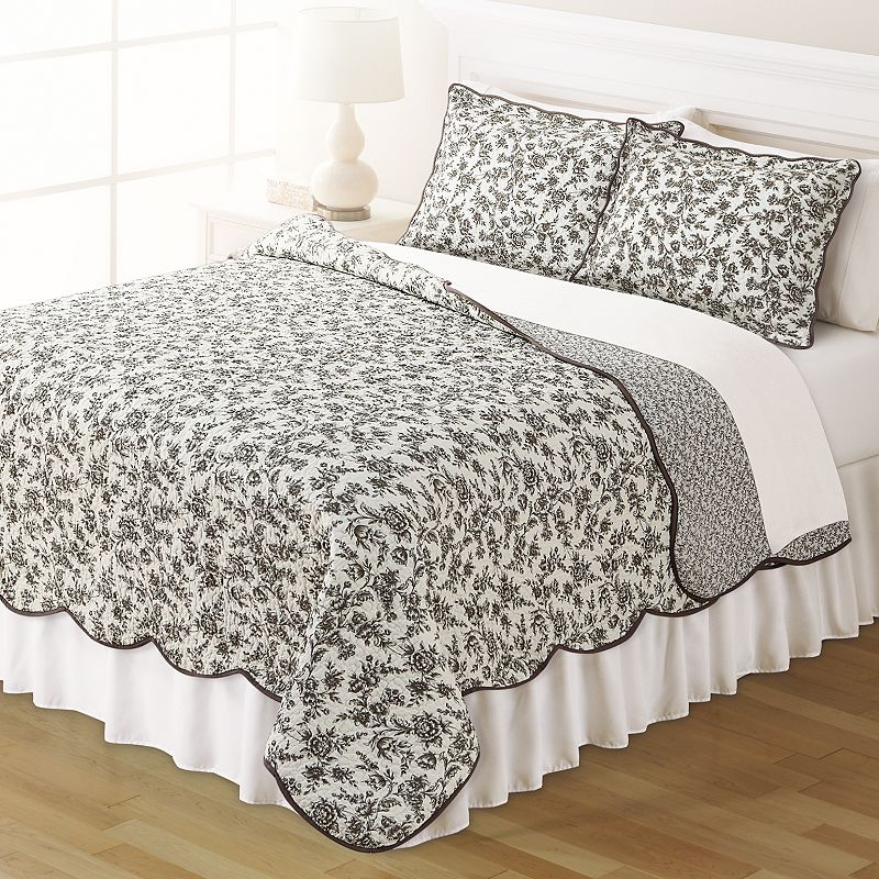 Home Classics® Clair Toile Reversible Bedspread