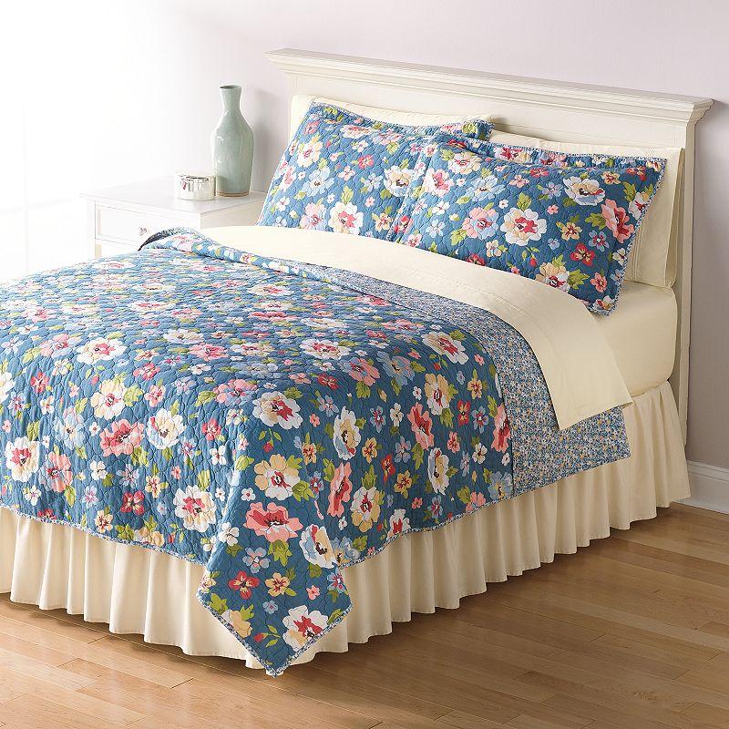 Home Classics® Sarah Floral Bouquet Reversible Quilt