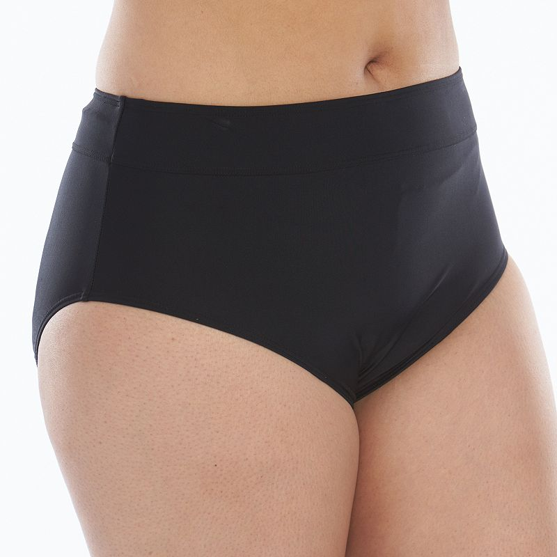 Plus Size Croft & Barrow® Semi-High Waist Scoop Swim Bottoms
