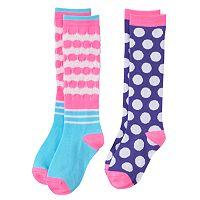 Girls 6-11 SO® 2-pk. Striped Knee-High Socks