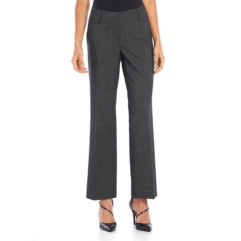 Apt. 9® Curvy Fit Crosshatch Dress Pants - Women's