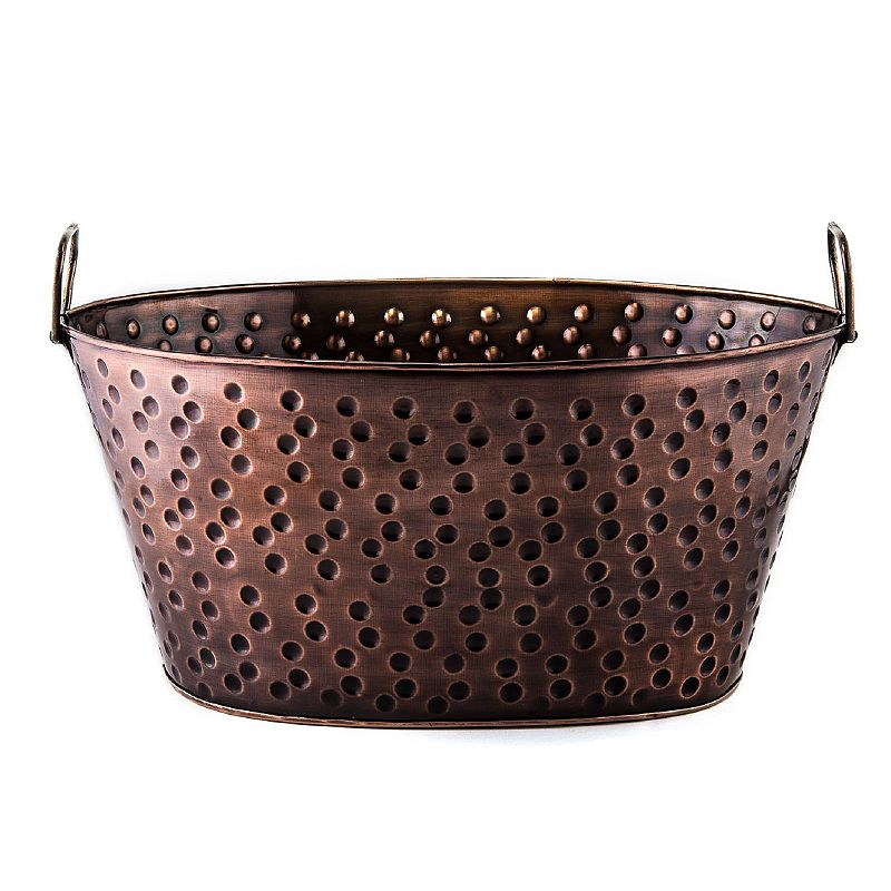 Old Dutch Antique Copper Dots 17-in. Party Tub