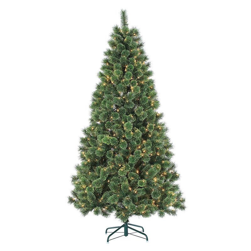 Gerson 7-ft. Hard Needle Deluxe Cashmere Pine Light-Up Artificial Christmas Tree
