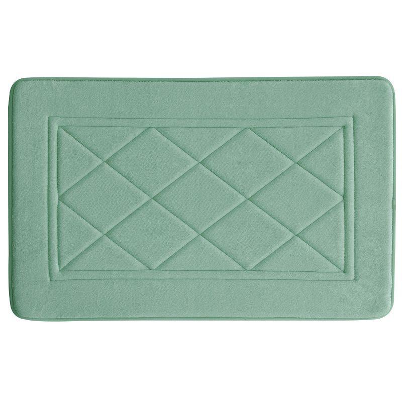 Bacova Argyle Antimicrobial Memory Foam Bath Rug - 20'' x 32''