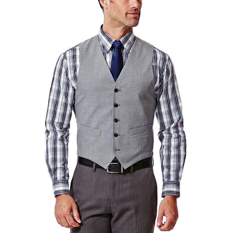 Men's Haggar® Slim-Fit Heathered Light Gray Suit Vest