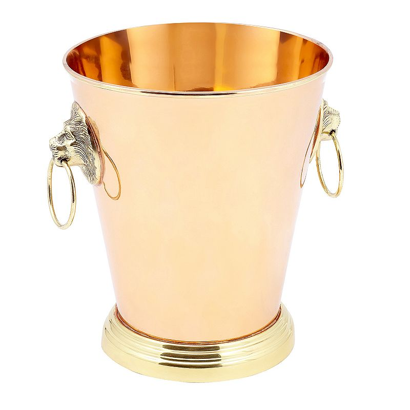 Old Dutch Lion Head 8.5-in. Copper Champagne Cooler