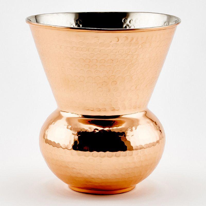 Old Dutch 3-qt. Hammered Copper Hourglass Wine Cooler