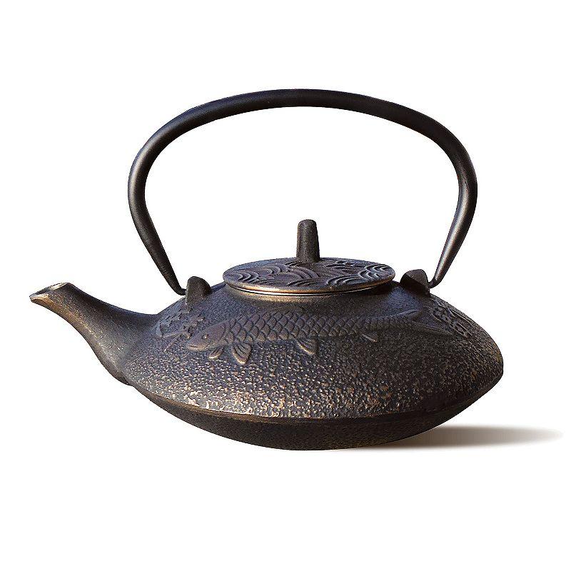Old Dutch Koi 38-oz. Cast-Iron Teapot