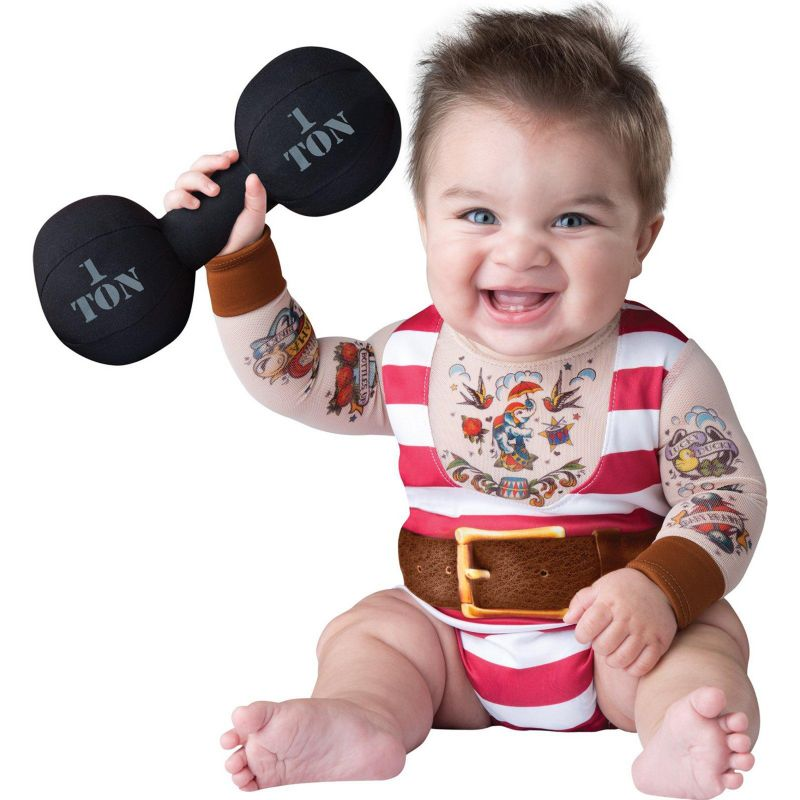 Silly Strongman Costume - Baby (Blue)