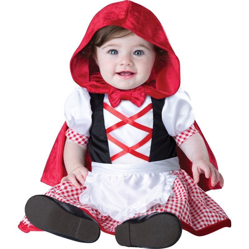 Little Red Riding Hood Costume - Baby (White/Red)