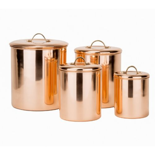 old dutch 4 pc copper kitchen canister set best kitchen storage containers gorgeous canister sets