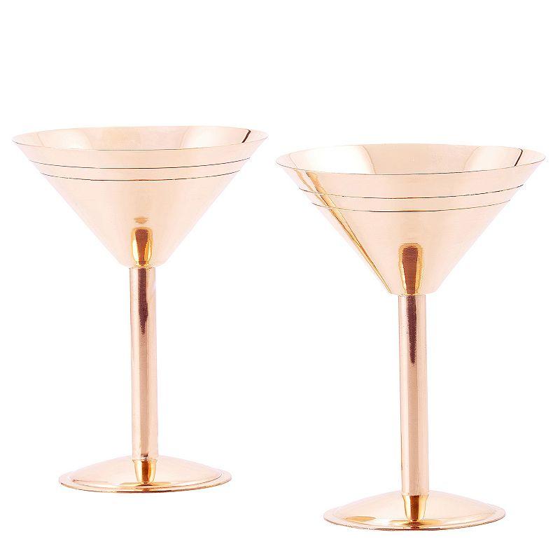 Old Dutch 2-pc. Copper Martini Glass Set
