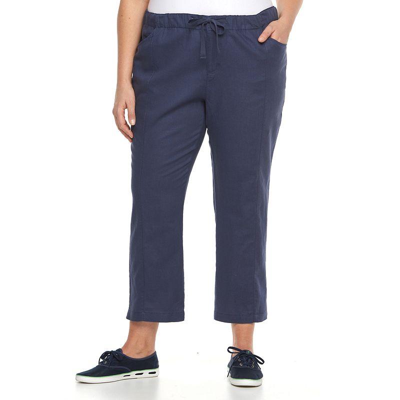 Plus Size Columbia Bonifay Brook Linen Blend Straight-Leg Pants