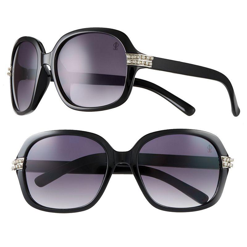Jennifer Lopez Luxury Rhinestone Square Sunglasses - Women