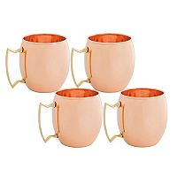 Old Dutch 4-pc. Solid Copper Moscow Mule Mug Set