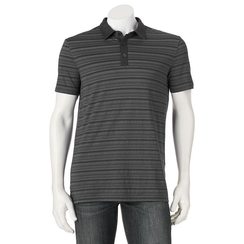 Apt. 9® Modern-Fit Texture-Striped Polo - Men