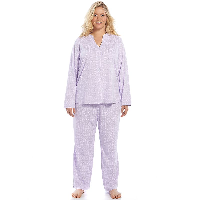 Plus Size Croft & Barrow® Pajamas: Print Knit Pajama Set
