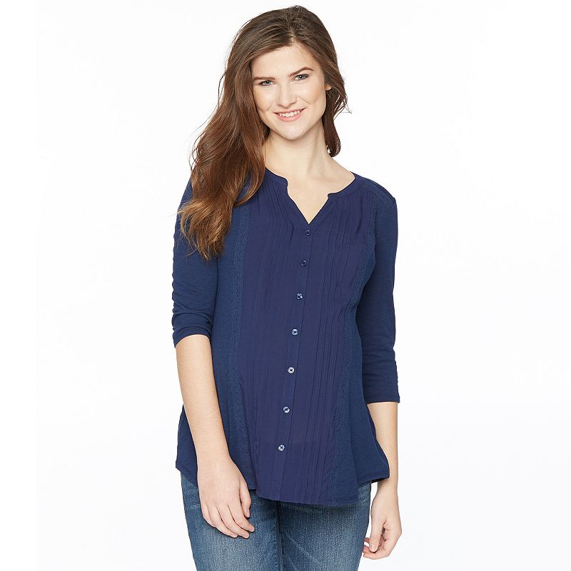Maternity Oh Baby by Motherhood™ Pintuck Blouse