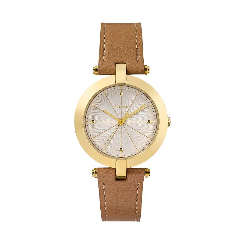 Timex Women's Greenwich Leather Watch - TW2P79500JT