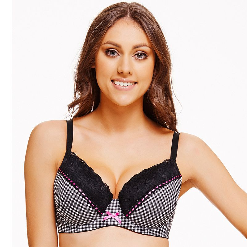 Perfects Australia Bra Anna Curve It Up Polka-Dot Full-Coverage Balconette T-Shirt - 14UBR40