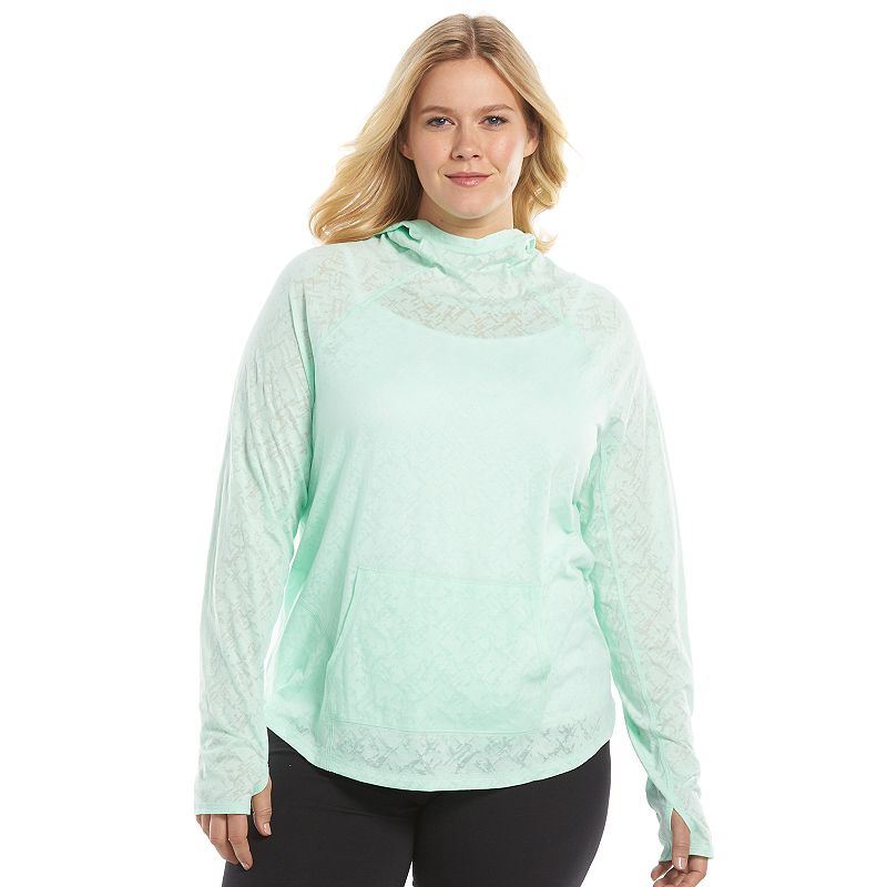 Plus Size Tek Gear® Light-Weight Burnout Pullover Top