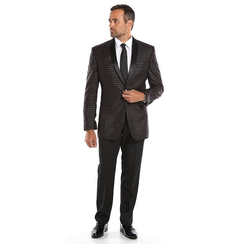 Men's Van Heusen Studio Classic-Fit Grid Sport Coat